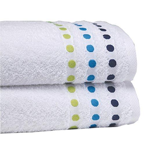 Sorema Colourful - Toalla para baño, de algodón, 70 x 140 cm, color azul