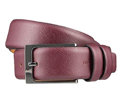OTTO KERN Cintura di uomini Cintura di Pelle bordeaux, Länge:95 cm;Farbe:rot