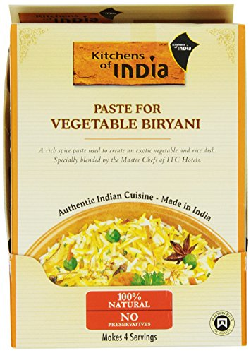 kitchens of india recipe paste vegetable biryani 3 5 ounce pack of