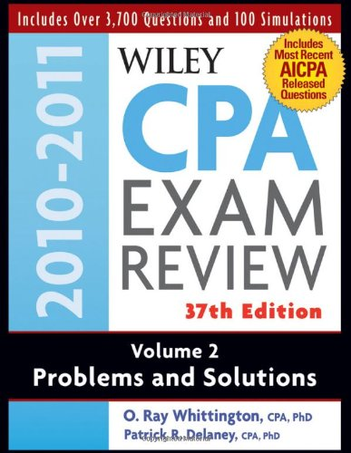 Wiley Cpa Examination Review, Problems And Solutions (Volume 2) front-497544
