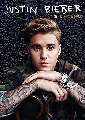 Justin Bieber Official 2017 A3 Spiral Bound Calendar