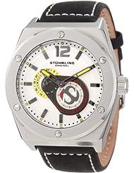 Stuhrling Original Men's 281.33152 Esprit Automatic Silver Dial Black Leather Strap Watch