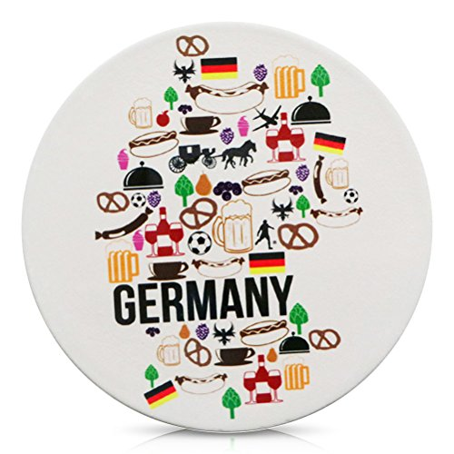 Porzellan Untersetzer für Gläser Porzellanuntersetzer Germany Deutschland Motive 11 cm