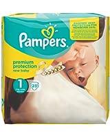 Couches Pampers New Baby Gr.1 nouveau-né 2-5 kg Porter Pack, pack de 4 (4 x 23 pièces)