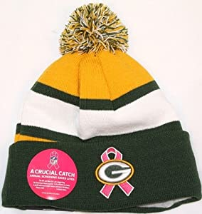 13b64911f Get Green Bay Packers Era 2013 NFL Breast Cancer Awareness Knit Hat at  Cheesehead Store