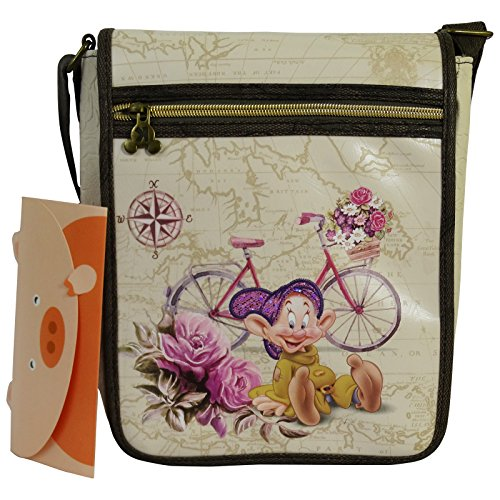 Disney Sette nani Cucciolo Travel Borsa da Ragazza Donna Bambina a Tracolla Porta Tablet IPad