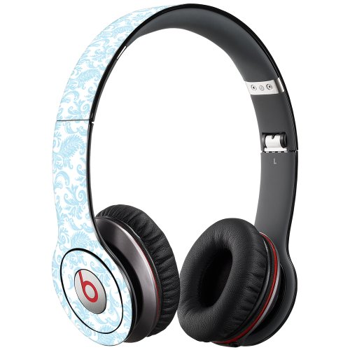 Soft Chateau Blue Damask Decal Skin For Beats Solo Hd Headphones By Dr. Dre