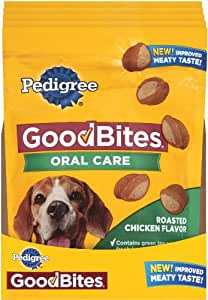 Pedigree Good Bites Oral Care Snack Food for Dogs, 6.7-Ounce