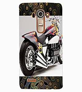 ColourCraft Amazing Bike Design Back Case Cover for LG G4
