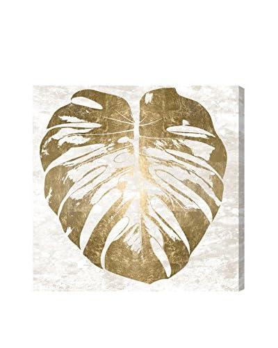 """Oliver Gal """"Monstera Gold Leaf"""" Canvas Art"""