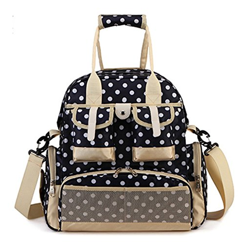 hie-4-way-baby-diaper-storage-backpack-bag-polka-dots-large-capacity-w-waterproof-fabric