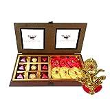 Chocholik Luxury Chocolates - 18pc Amazing And Perfect Combination Of Chocolates And Rocks With Ganesha Idol -...