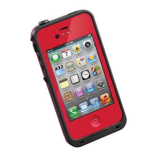 Lifeproof Case For Iphone 4/4S - Retail Packaging - Red/Black