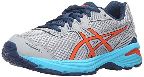 ASICS GT-1000 5 GS Running Shoe (Little Kid/Big Kid), Mid Grey/Flame Orange/Poseidon, 3 M US Little Kid (Asics Gt 1000 compare prices)
