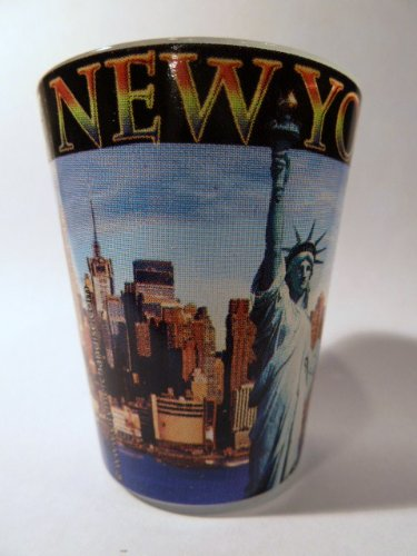 New York City Postcard 417 Shot Glass