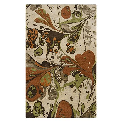 Surya Banshee BAN-3314 Contemporary Hand Tufted 100% New Zealand Wool Silver Cloud 8' x 11' Abstract Area Rug