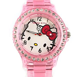 Watch design 'Hello Kitty'pale pink.