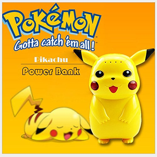 Batterie portable Powerbank Pikachu Pokemon Go 10000mAh Lumineux - Lobishop