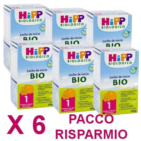 latte Hipp 1 da 600 grammi X 6 Confezioni - Pacco Convenienza