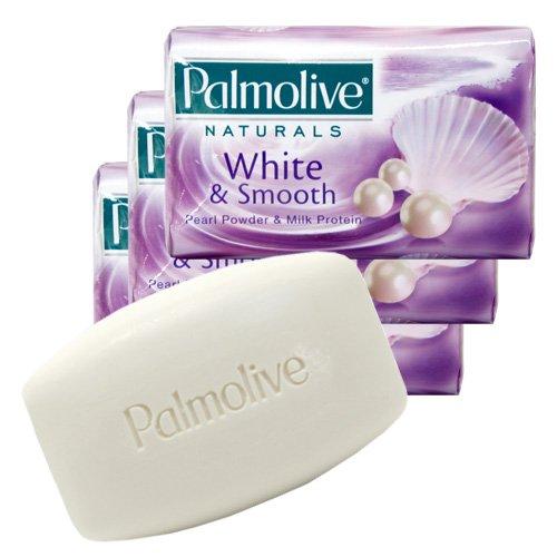 パルモリーブ ナチュラルズ石鹸3個パック ホワイト&スムース 80g×3