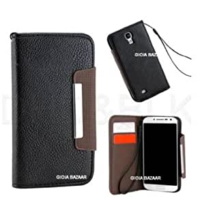 2010kharido Samsung Galaxy Note 3 III N9000 Leather Flip Wallet Case Cover Pouch Table Talk New Black