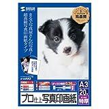サンワサプライ インクジェットデジカメ写真用紙(超光沢・薄手)A3 JP-KG3A3