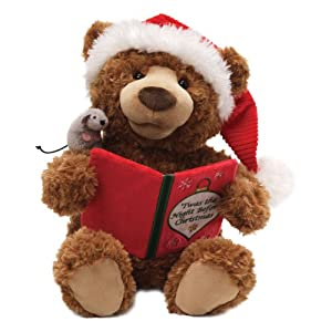 "Gund Fun Christmas Storytime Bear Animated 13"" Plush by Gund Fun"