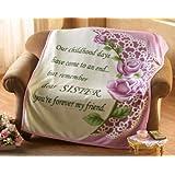 Special Sister Rose Fleece Throw Blanket