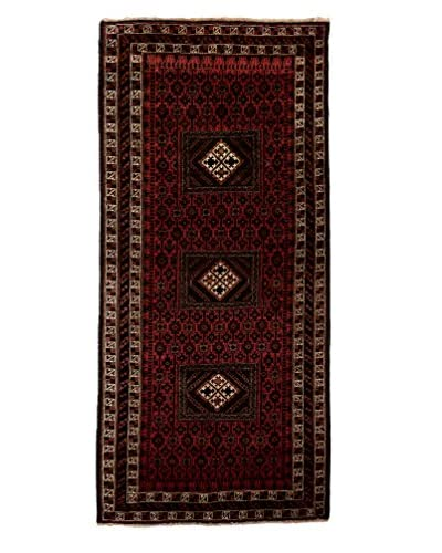 Darya Rugs One-of-a-Kind Tribal Rug, Red, 8' x 3' 6