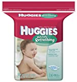 Huggies Naturally Refreshing Baby Wipes, Refill, 184-Count Pack (Pack of 3)