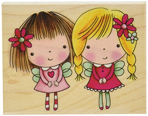 Penny Black Penny Black Mounted Rubber Stamp 2.75 by 3.5-Inch, Mimi and Friend - 1