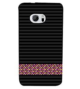 Line Pattern Wallpaper 3D Hard Polycarbonate Designer Back Case Cover for HTC One M10 :: HTC M10