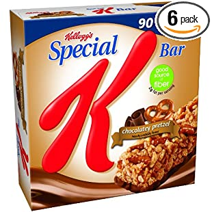 Special K Bars, Chocolatey Pretzel, 6-Count Bars (Pack of 6)
