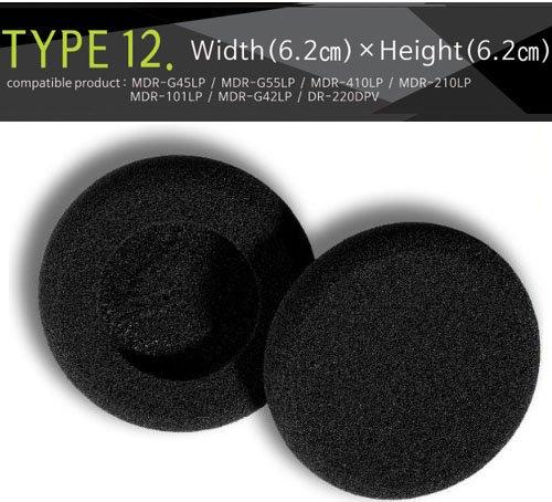 Earpads,Kopfhorer Ohrkissen, Ohrpolster Ersatz fur Kopfhorer, kompatibel mit (Packaged 4 Paar (8 Stuck) Sennheiser, Audio-Technica, Sony MDR-G45LP, MDR-G55LP, MDR-G410LP, MDR-G101LP, MDR-G42LP, DR-220DPV, etc. T12