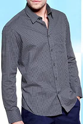 Blue Harbour Pure Cotton Mini Check Shirt [T25-8322B-S]