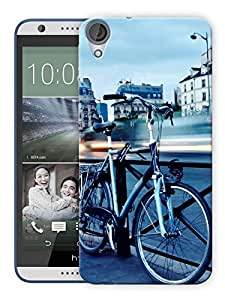 "Humor Gang Cycle On A Bridge Printed Designer Mobile Back Cover For ""HTC DESIRE 820"" (3D, Matte, Premium Quality Snap On Case)"