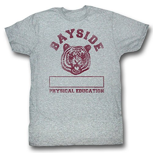 Saved By The Bell 80'S Comedy Bayside Physical Education Grey Adult T-Shirt