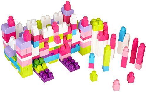 Mega Bloks First Builders Big Building Bloks 220 Pieces Tub (Pink) (Building Blocks Pink Tub compare prices)