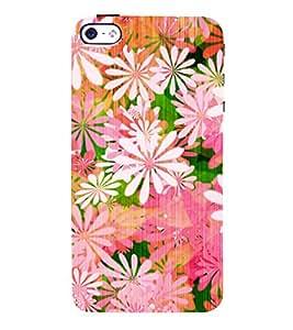 Floral Painting 3D Hard Polycarbonate Designer Back Case Cover for Apple iPhone 5S