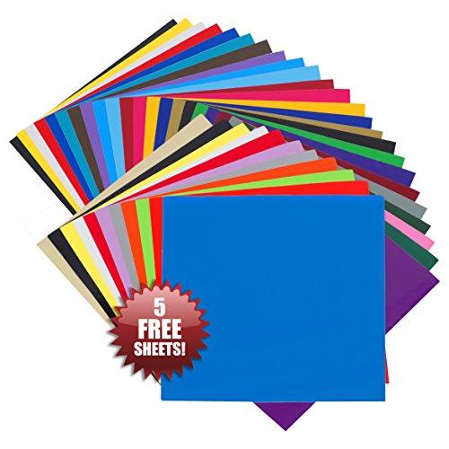 vinyl-selbstklebefolie-305-cm-x-305-cm-bogen-35er-packung-viele-farben-perfekt-geeignet-fur-cricut-s