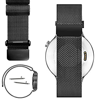 Stainless Steel Milanese Loop Watch Band Strap + Pins + Tool For Pebble Time Watch (YESOO Retail Packaging - 180 Days Warranty)