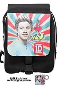 """One Direction Large Backpack, """"Niall Horan in Retro"""", Limited Edition with Free Exclusive Keychain by 1DirectionStore.com"""