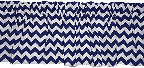 Baby Doll Bedding Baby Doll Chevron Window Valance, Navy