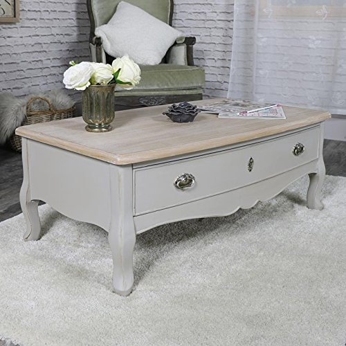 Vintage grigio due cassetti tavolino–Albi Range