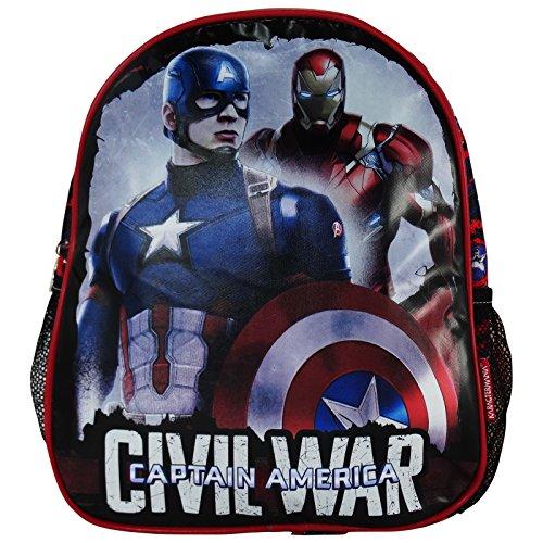 Marvel Capitan America Civil War Zaino Bambino Asilo Cestino Portapranzo Scuola
