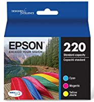 Epson T220520 DURABrite Ultra Color Combo Pack Standard Capacity Cartridge Ink (WF-2760, WF-2750, WF-2660, WF-2650, WF-2630, XP-424, XP-420, XP-320) by Epson
