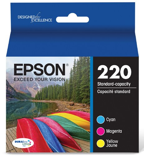 Epson DURABrite Ultra Standard-Capacity Ink Cartridge, Color Multipack (T220520)