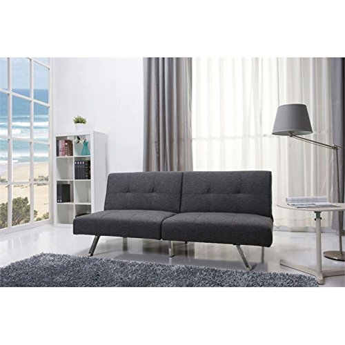 Convertible Ottoman Chair Costco: Gold Sparrow Victorville Foldable Futon Sofa Bed, Gray