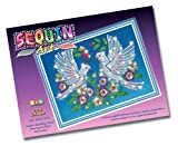 Sequin Art and Beads Doves