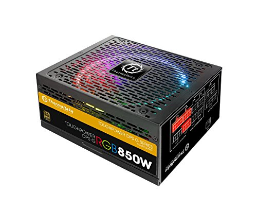 Thermaltake TOUGHPOWER RGB 850W 80+ GOLD Fully Modular Power Supply 10 YR Warranty with 256-colors and Secure Smart Power Management (Thermaltake Modular Cables compare prices)